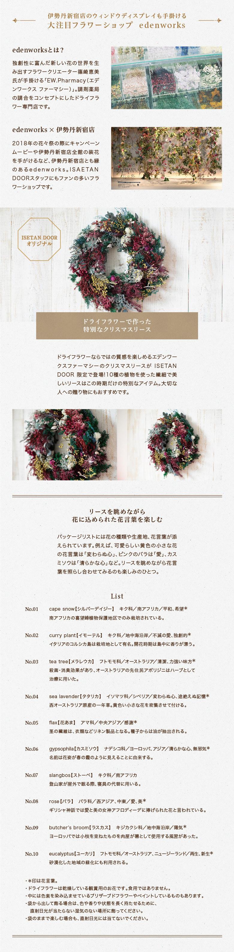 [エデンワークス]クリスマスリース