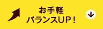 お手軽バランスUP!
